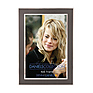 4X6 In. Shiny Silver W/Charcoal Photo Frame
