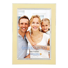 E0204VC Silver Plate Enamel 4x6 In. Photo Frame - Vanilla Cream Image 0