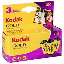 GOLD 200/24EXP 35mm Color Film Roll 3Pack Image 0