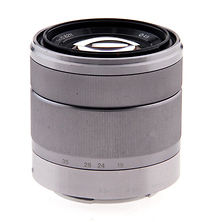 18-55mm f/3.5-5.6 Zoom Lens for Alpha NEX Camera - Silver - Open Box Image 0