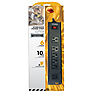 6-Outlet (4+2) Black Metal Power Strip w/ 10ft Cord