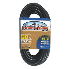 Farm & Shop Extension Cord 50ft. 14/3 (Black) Image 0