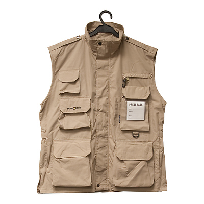 Photo Vest 14 (Beige, M) Image 0