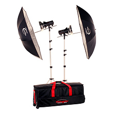 AKC330K 320Watts Basic Studio 2 Light Kit 120V AC Image 0