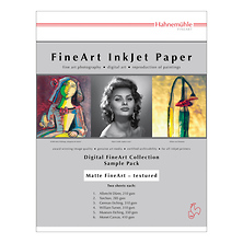Matte FineArt Textured Archival Inkjet Paper Sample Pack (8.5 x 11 inch., 12 Sheets) Image 0