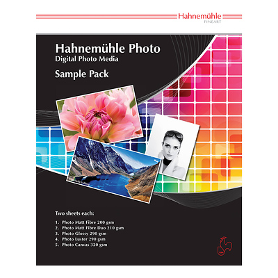 Fine Art Inkjet Photo Paper Sample Pack (8.5 x 11 inch., 10 Sheets) Image 0