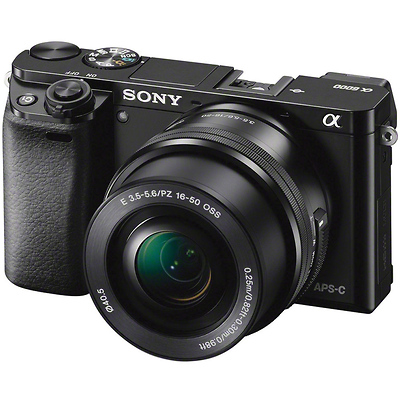 Alpha a6000 Mirrorless Digital Camera with 16-50mm Lens (Black) Image 0