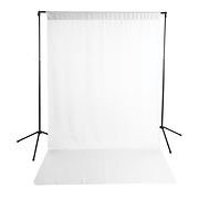 Economy Background Support Stand with White Backdrop