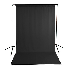 5 x 9ft Economy Background Support Stand w/Black Backdrop - Open Box Image 0