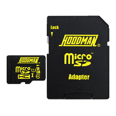 16GB microSDHC Memory Card with SD Adapter Image 0