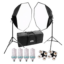 Studio Hybrid Still & Video 2 Light Octagonal Softbox Kit Image 0