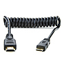 Full HDMI to Mini HDMI Coiled Cable (11.8-17.7