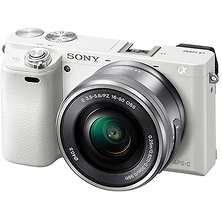 Alpha a6000 Mirrorless Digital Camera with 16-50mm Lens (White) Image 0