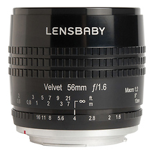 Velvet 56mm f/1.6 Lens for Canon EF (Black) Image 0