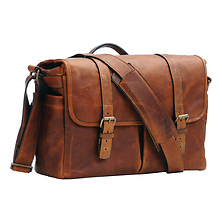The Brixton Camera/Laptop Leather Messenger Bag (Antique Cognac) Image 0