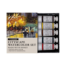 Cityscape 0.5 oz Artists Watercolor 5 Color Set Image 0