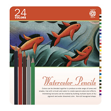 24 Pc Watercolor Pencil Set Image 0