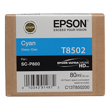 T850 UltraChrome HD Cyan Ink Cartridge (80 ml) Image 0