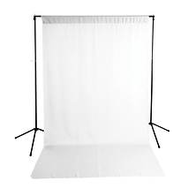 Economy Background Support Stand w/White Backdrop - Open Box Image 0
