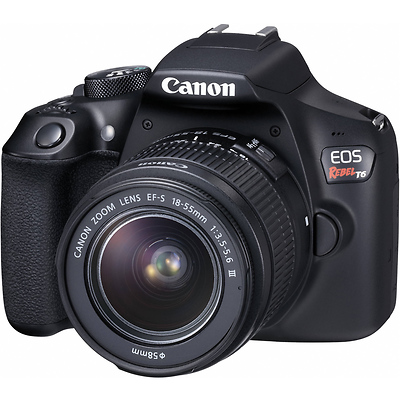 Canon EOS Rebel T6 Digital SLR Camera with 18-55mm Lens Image 0