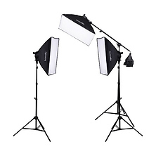F5 Three-Head Fluorescent Lighting Kit with Boom Arm Image 0