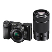Alpha a6000 Mirrorless Digital Camera with 16-50mm and 55-210mm Lenses (Black)