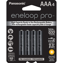 Eneloop Pro AAA Rechargeable Ni-MH Batteries (950mAh, Pack of 4) Image 0