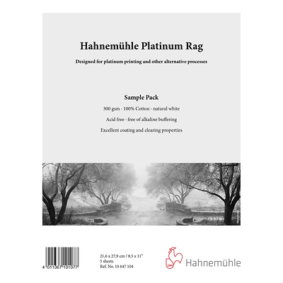 Platinum Rag Fine Art Paper Sample Pack (8.5 x 11 In. 5 Sheets) Image 0