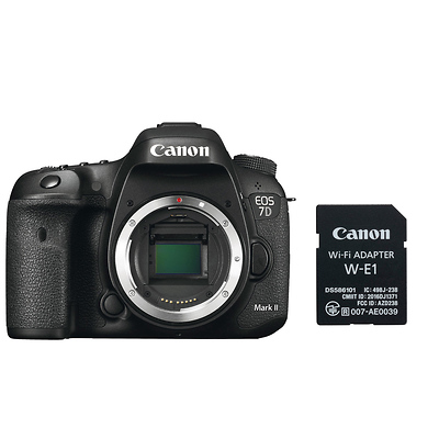 EOS 7D Mark II Digital SLR Camera Body with W-E1 Wi-Fi Adapter Image 0
