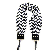 Scarf Camera Strap (Black & White Chevron) Image 0