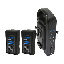 Dual Battery Charger with Dual 95W V-Mount Battery Bundle Image 0