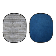 Collapsible Backdrop (Gray Pine/Blue) kit
