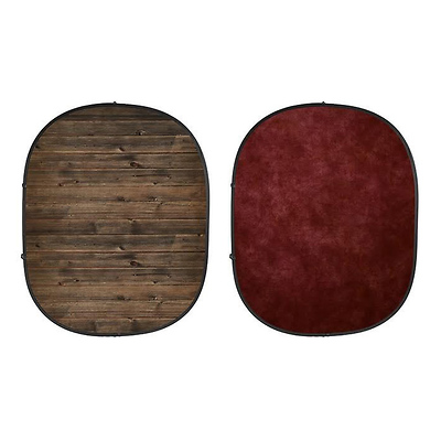 Collapsible Backdrop (Rustic Planks/Red) Kit Image 0