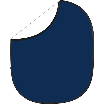 Collapsible/Reversible Background (5 x 6 ft., Navy Blue/White) Image 0