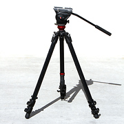 Manfrotto MVH500AH Fluid Head & 755CX3 MagFibre Tripod (Open Box)