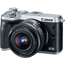 EOS M6 Mirrorless Digital Camera with 15-45mm Lens (Silver) Image 0