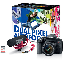 EOS Rebel T7i Digital SLR Camera with 18-55mm Lens Video Creator Kit Image 0