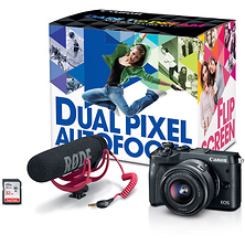 EOS M6 Mirrorless Digital Camera with 15-45mm Lens Video Creator Kit (Black) Image 0