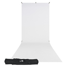 X-Drop Wrinkle-Resistant Backdrop Kit Rich White Sweep 5 x 12 ft. - (Open Box) Image 0