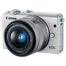 EOS M100 Mirrorless Digital Camera with 15-45mm Lens (White) Image 0