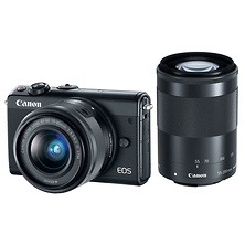 EOS M100 Mirrorless Digital Camera with 15-45mm and 55-200mm Lenses (Black) Image 0