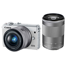 EOS M100 Mirrorless Digital Camera with 15-45mm and 55-200mm Lenses (White) Image 0