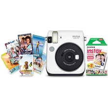Instax mini 70 Instant Film Camera Travel Bundle (Moon White) Image 0