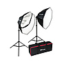 OctaBella 1000W 2-LED Light Softbox Kit