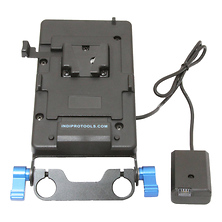 V-Mount Plate with NP-FW50 Dummy Battery (15mm Rod Bracket) Image 0