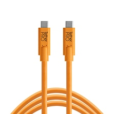 TetherPro USB Type-C Male to USB Type-C Male Cable (15 ft., Orange) Image 0