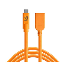 Tetherpro USB-C to USB Female Adapter Extender (15 ft. Orange) Image 0