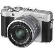 X-A5 Mirrorless Digital Camera with 15-45mm Lens (Silver)