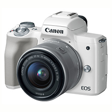 EOS M50 Mirrorless Digital Camera with 15-45mm Lens (White) Image 0