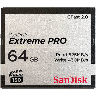 64GB Extreme PRO CFast 2.0 Memory Card Image 0